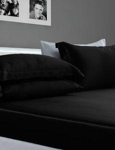 Drap housse en soie 22mm noir