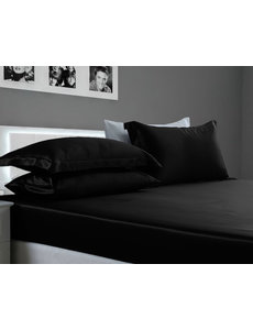 Silk fitted sheet 22mm black