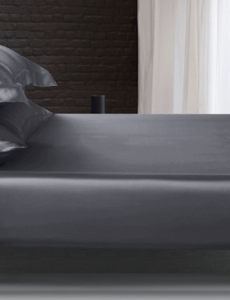 Silk fitted sheet 22mm antracite