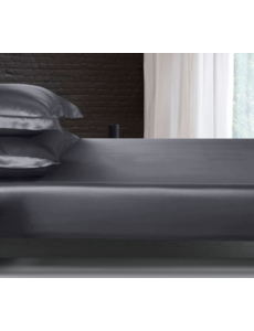 Silk fitted sheet 22mm anthracite grey