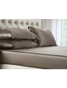 Silk fitted sheet 19mm chateau brown