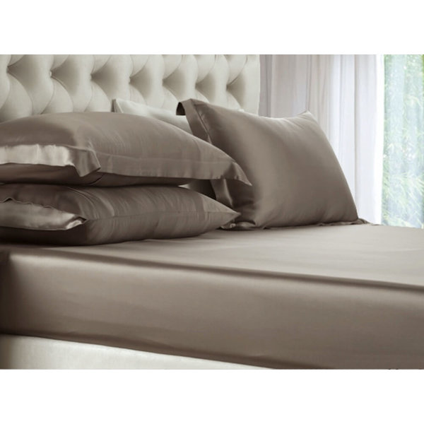 Silk fitted sheet 19momme chateau brown
