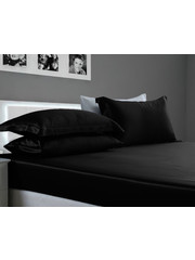 Silk fitted sheet 19mm black