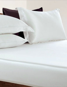 Silk fitted sheet 19mm ivory white