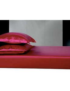 Silk fitted sheet 19mm wine red