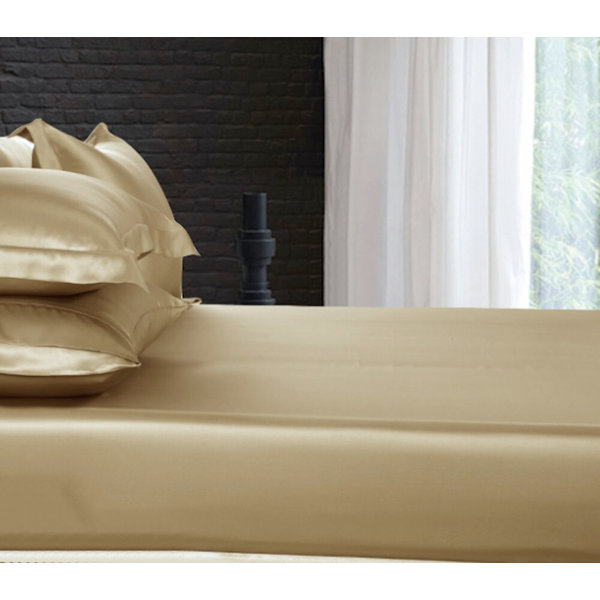 Silk fitted sheet 19momme cappuccino
