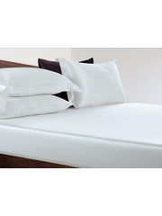 Silk fitted sheet 19mm pure white