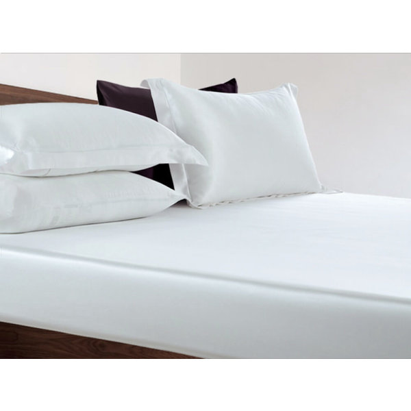 Silk fitted sheet 19momme pure white