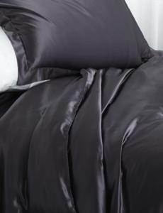 Silk duvet cover 22mm antracite