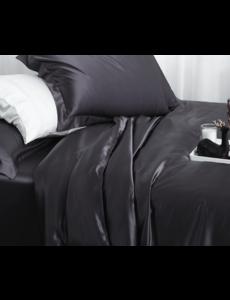 Silk duvet cover 22mm anthracite grey