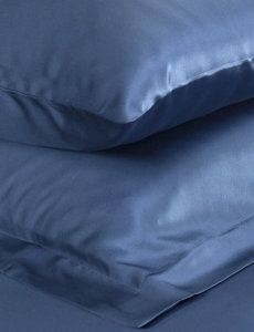 Silk pillowcase 22mm ocean blue