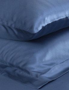 Taies d'oreiller en soie 22mm bleu océan