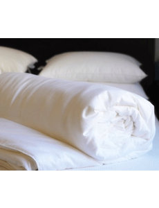 Summer silk duvet with cotton cover