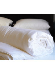 Mid-season silk duvet with cotton cover