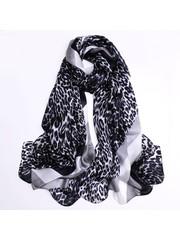 Bufanda de seda con estampado animal