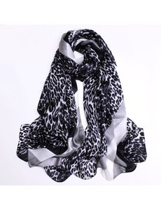 Silk scarf with animal print