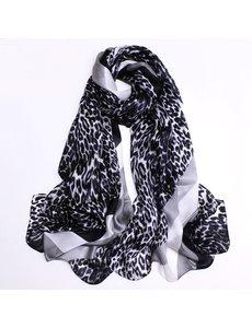 Zijden sjaal met dieren print