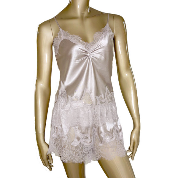Women's Silk top & silk shorts set