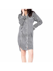 Women's silk striped nightgown