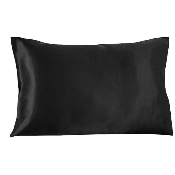 Funda de almohada de seda 19momme negro