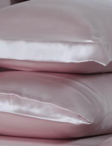 Funda de almohada de seda 19mm vintage rose