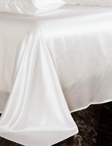 Silk flat sheet 19mm ivory