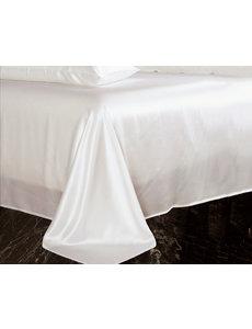 Silk flat sheet 19mm ivory white