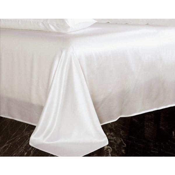 Silk flat sheet 19momme ivory white