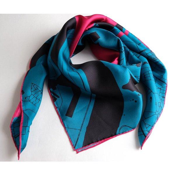 Silk scarf 100% silk - Antwerp