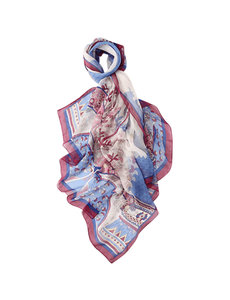 Zijden Sjaal blauw