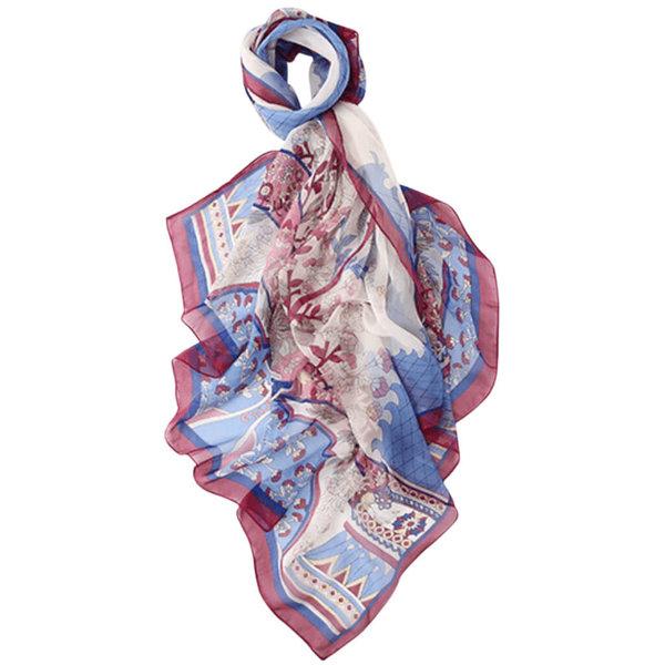 Zijden sjaal blauw100% zijde
