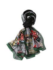 Silk scarf green