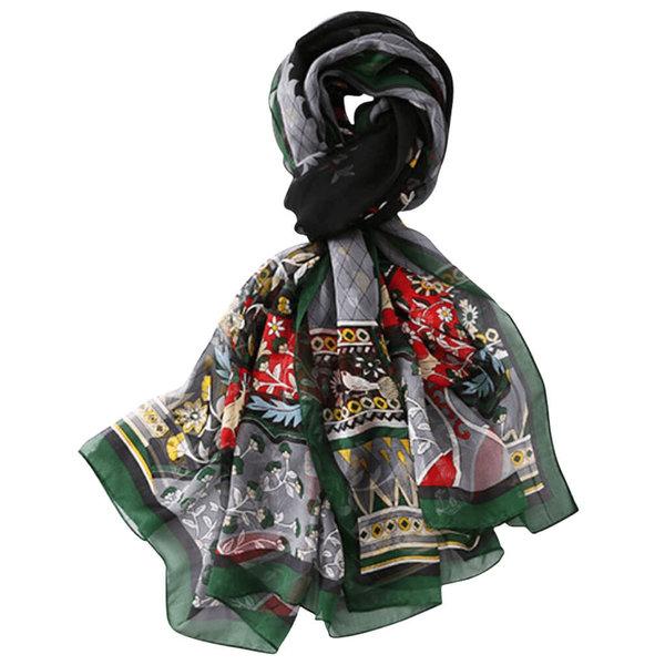Zijden sjaal groen