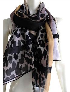 Foulard en soie imprimé animal