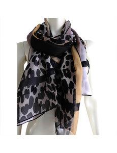 Animal Print Silk Scarf