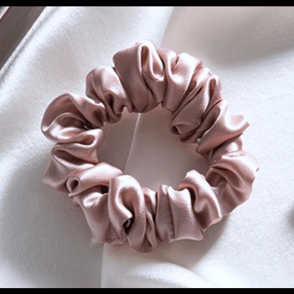 Zijden scrunchie (M) 100% zijde