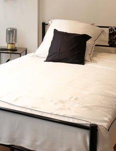 Silk duvet cover Elegance 19mm pure white