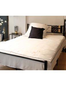Zijden dekbedovertrek Elegance 19mm puur wit