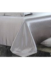 Silk flat sheet 22mm silver grey