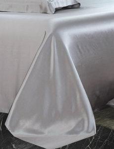 Drap en soie 22mm gris argent