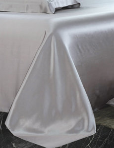 Silk flat sheet 22mm silver grey