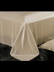 Silk flat sheet 22mm Champagne