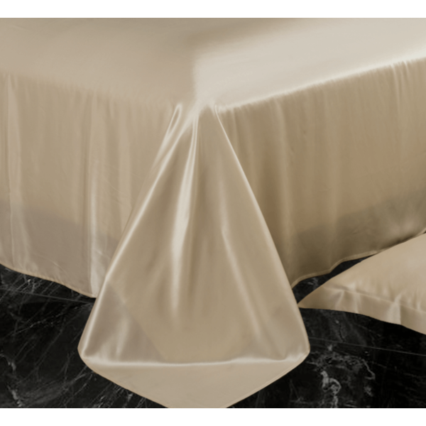 Silk flat sheet 22momme Champagne