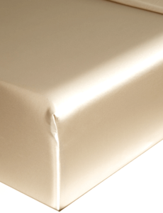Silk fitted sheet 22mm Champagne