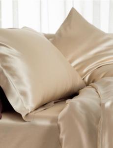 Funda de almohada de seda 22mm Champán