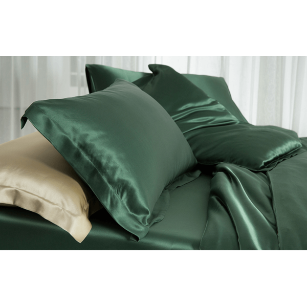 Silk pillowcase 19momme forest green
