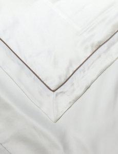 Zijden dekbedovertrek Elegance 19mm ivoorwit