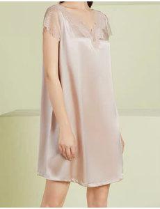 Vestido de pijama de seda mujer