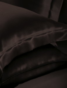 Silk pillowcase 19mm choco noir