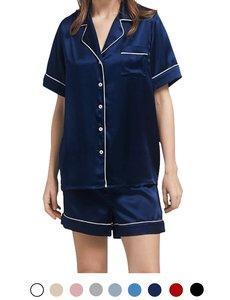 Dames zijden pyjama set (shortama)